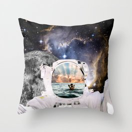 The Galaxy Is Always Brighter On The Other Side, 2018 Throw Pillow