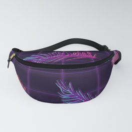 Synthwave Palm Leaves Fanny Pack