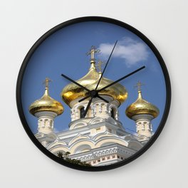 Onion Domes Alexander Nevsky Cathedral Wall Clock