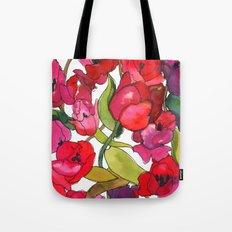 Scarlet Tulips Tote Bag