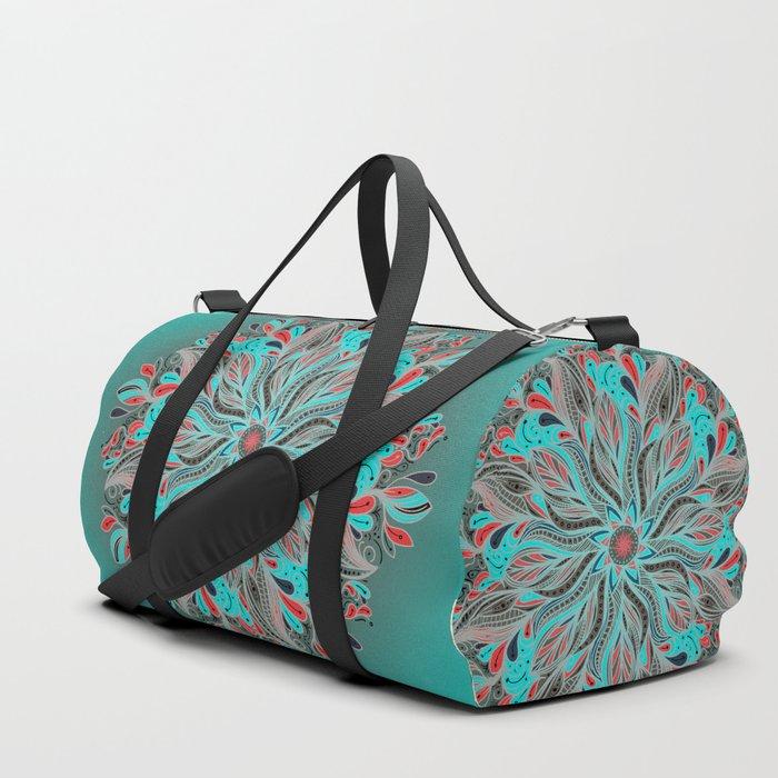 Mandala Flower Duffle Bag
