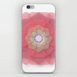 Pink Floral Meditation iPhone Skin