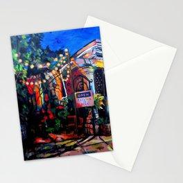 Nighttime Cafe Stationery Cards