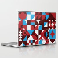 mid century modern Laptop & iPad Skins featuring Chill Vibes - Retro 1960s Mid Century Modern Print by BoomCat