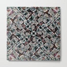 Abstract Digital Stoneware Metal Print