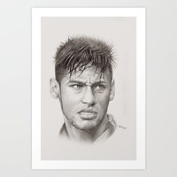 neymar Art Prints featuring Neymar by byhazel
