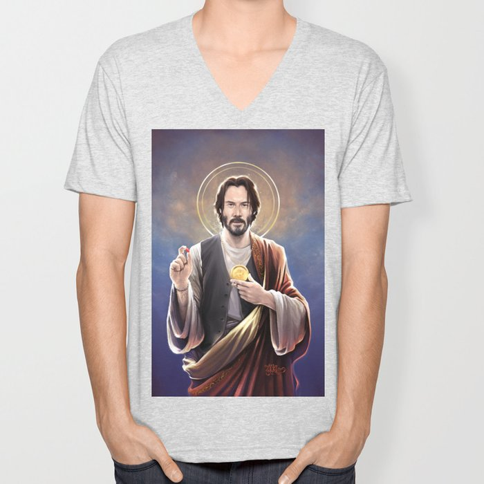 Saint Keanu of Reeves Unisex V-Neck