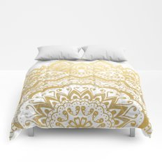 GOLD ORION JEWEL MANDALA Comforters