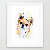 chihuahua Framed Art Prints featuring Chihuahua by Slaveika Aladjova