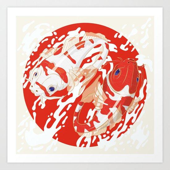 KOI Fishes Art Print