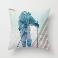 husky Throw Pillows featuring Husky Exploration by Chase Kunz