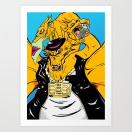 Kaiju Kool Kids_Street King Art Print