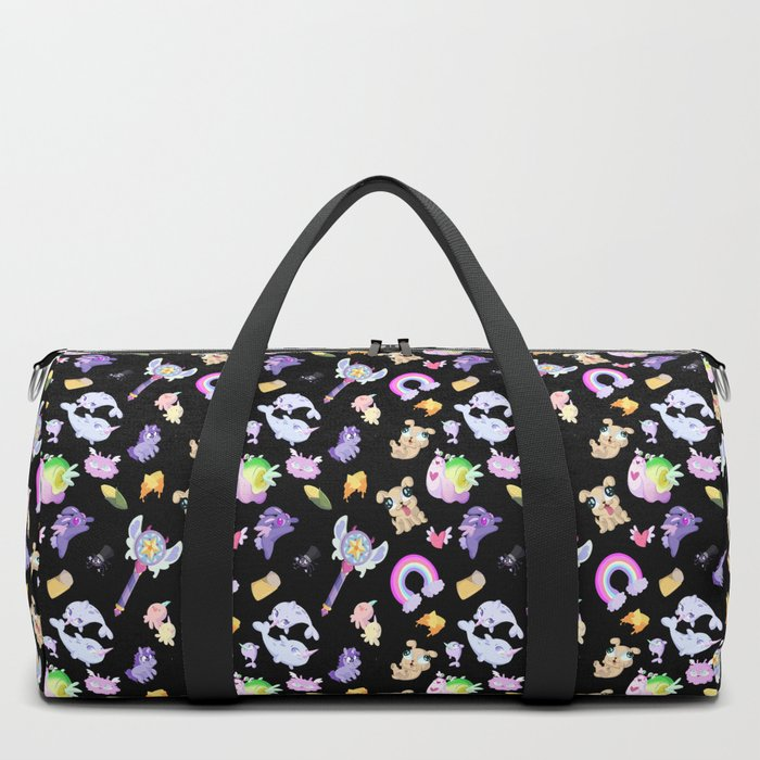 Star vs the Forces of Evil Pattern ( black ) Duffle Bag by sabrina marcos  51638398e9ca0