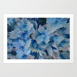 Hydrangea glitches Art Print