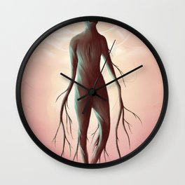 Carved in the wood of temptation Wall Clock