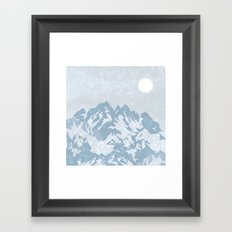 Up in the Mountains! Framed Art Print