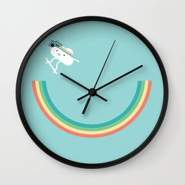 Skateboarding cloud Wall Clock