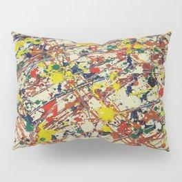 Jackson Pollock, digitally modified, fine art decor and clothing Pillow Sham