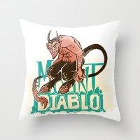 diablo Throw Pillows featuring Mount Diablo by Monica McClain