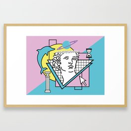 Apollo - Vaporwave - 80s Framed Art Print