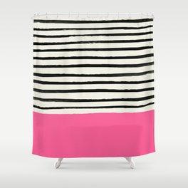 Watermelon & Stripes Shower Curtain