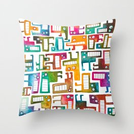 Tetris Monsters Throw Pillow