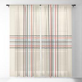 Filigree Fine Lined Cross Sheer Curtain
