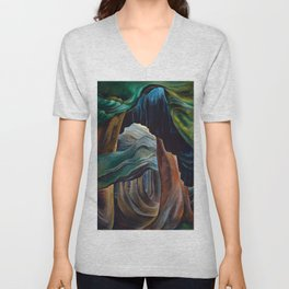 Emily Carr - Forest, British Columbia - Canada, Canadian Oil Painting - Group of Seven Unisex V-Neck