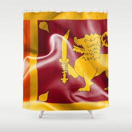 Sri Lanka Flag Shower Curtain