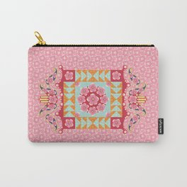 Paisley and Hamsa Carry-All Pouch