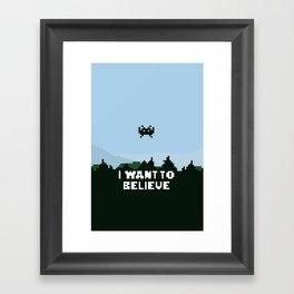 i want to believe. Framed Art Print