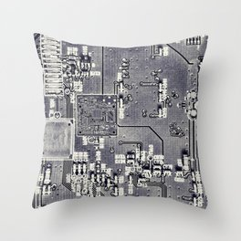 Front Side Bus Ride Throw Pillow
