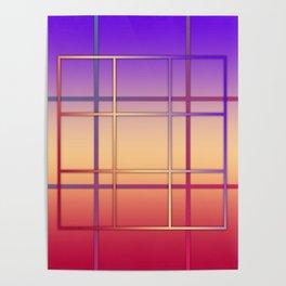 Geometric patchwork Poster