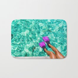 Vacation in the Maldives for the winter holidays Bath Mat