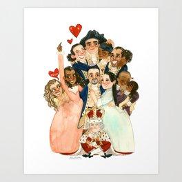 Hamilton Hug Art Print