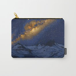 Glowing Tent Under Milky Way Carry-All Pouch