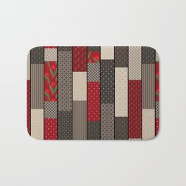 Country motifs . Classic quilting. Bath Mat