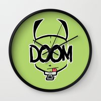 doom Wall Clocks featuring DOOM by Oddworld Art