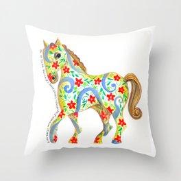 """caballo I"" serie : animales dométicos. Throw Pillow"