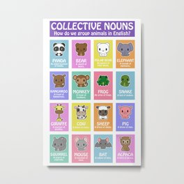 Collective Nouns 01 Metal Print