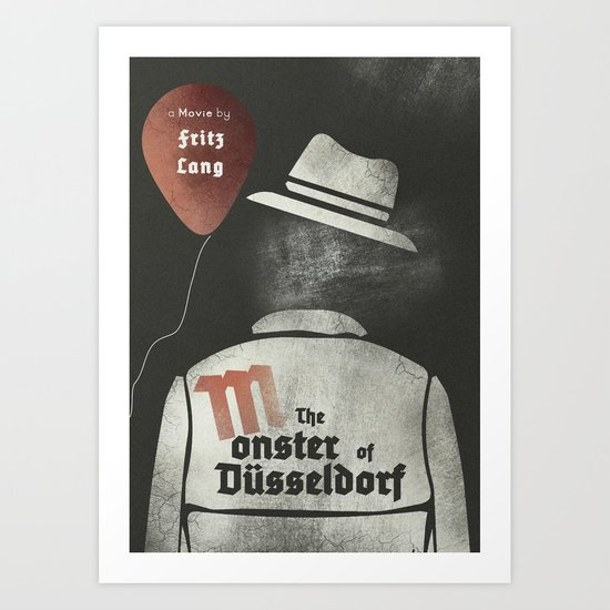 "Fritz Lang's ""M"" The Monster of Düsseldorf - Minimal Poster Art Print"