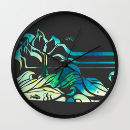 Wild and Free - Charcoal Wall Clock