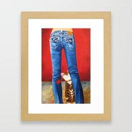 Blue Jeans Framed Art Print