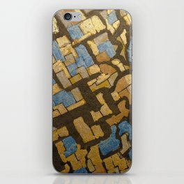 Gold cubic Eiffel tower close up iPhone Skin