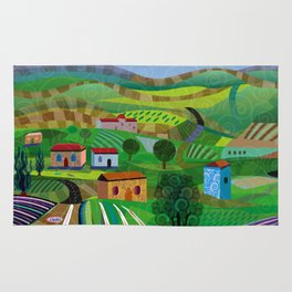 Santa Barbara Wine and Cheese Rug