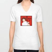 princess leia V-neck T-shirts featuring Princess Leia by Michi Donaho