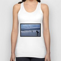 santa monica Tank Tops featuring Santa Monica Surf by Willinok