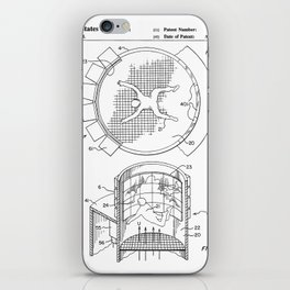 Skydiving Wind Tunnel Patent - Sky Diving Art - Black And White iPhone Skin