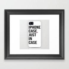 Iphone Case Framed Art Print
