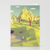 polygon Stationery Cards featuring Polygon Landscape by Tom Lee